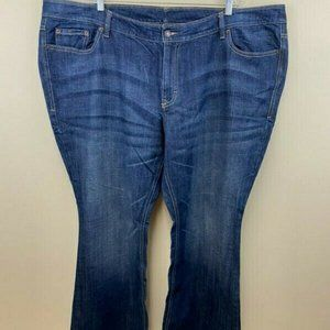 Old Navy The Diva Denim Flare Blue Jeans Plus Size